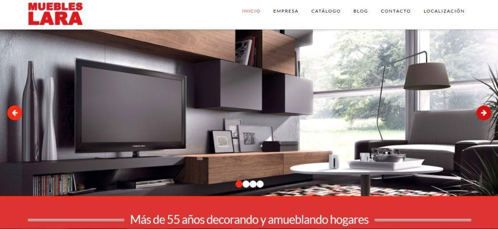 muebles lara nueva web y nuevos tiempos para seguir
