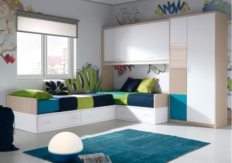 Las camas consejos para amueblar juveniles iii blog - Dormitorios infantiles dos camas ...